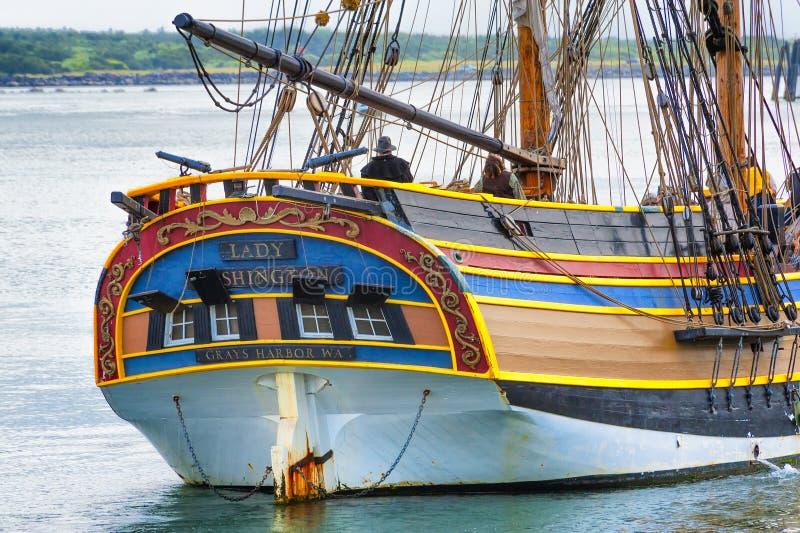 高船夫人华盛顿在纽波特,俄勒冈 库存照片