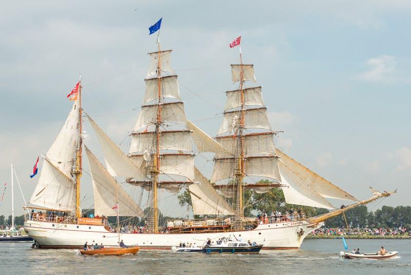 高船欧罗巴-风帆阿姆斯特丹2015年 免版税库存照片