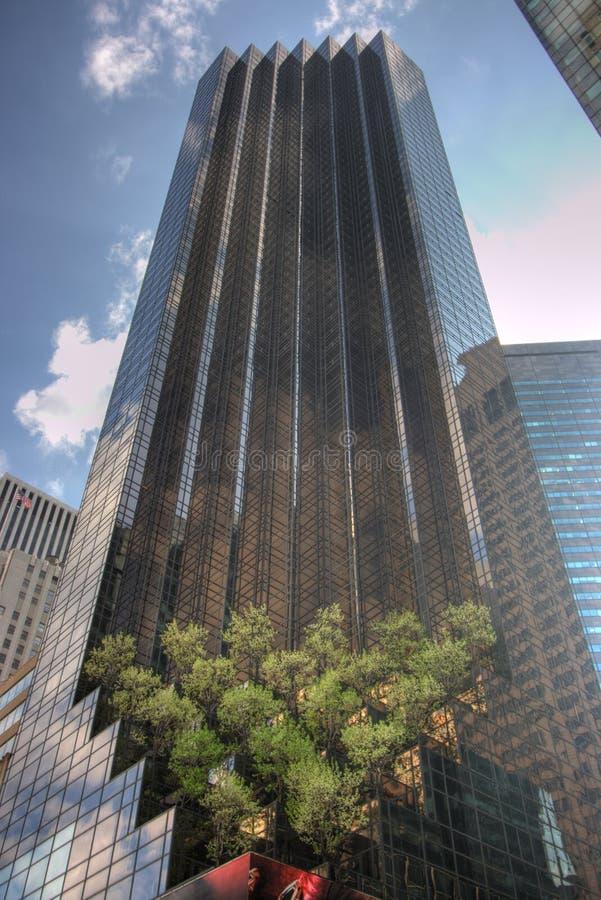 高蓝天的摩天大楼 免版税库存照片