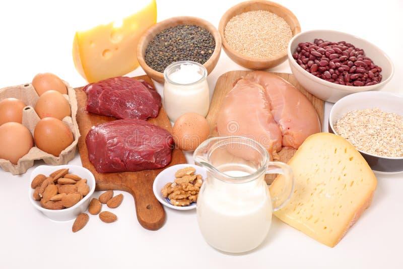 高蛋白的食物 免版税库存照片