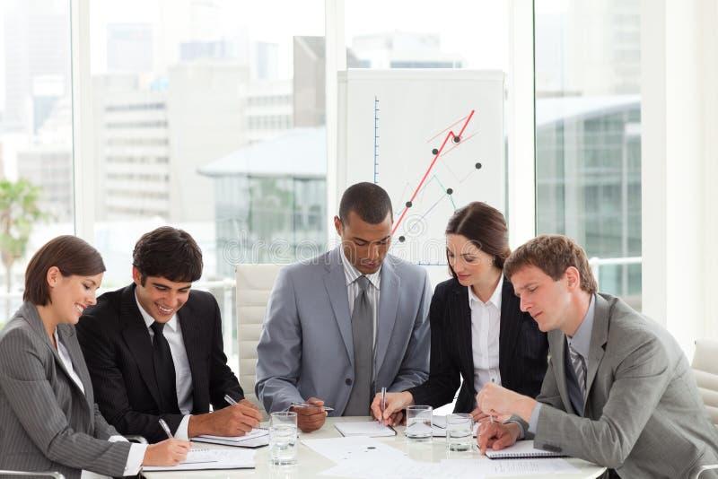 高角度企业不同的组 免版税库存图片