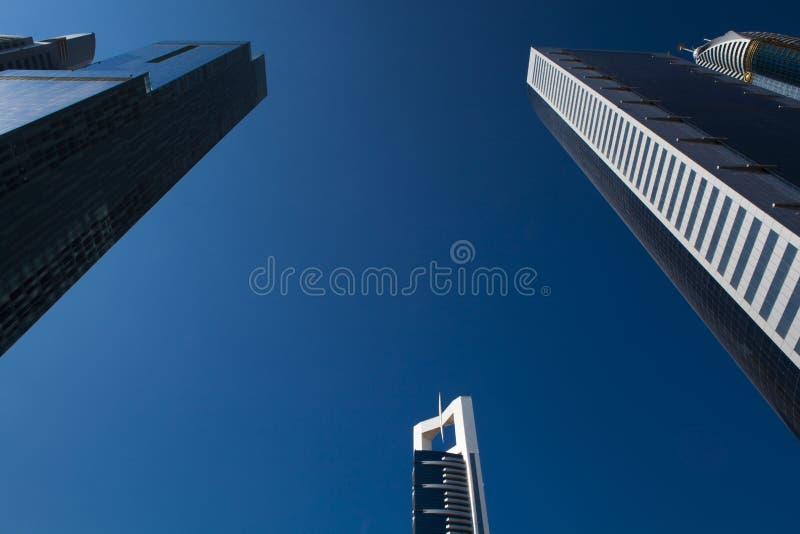 高豪华蓝色大厦摩天大楼 图库摄影