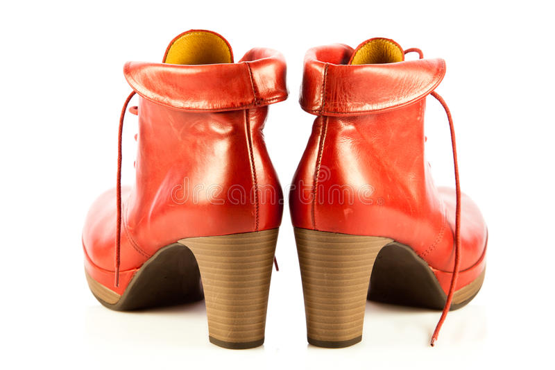 高跟鞋在白色背景辅助部件的妇女鞋子 免版税库存照片