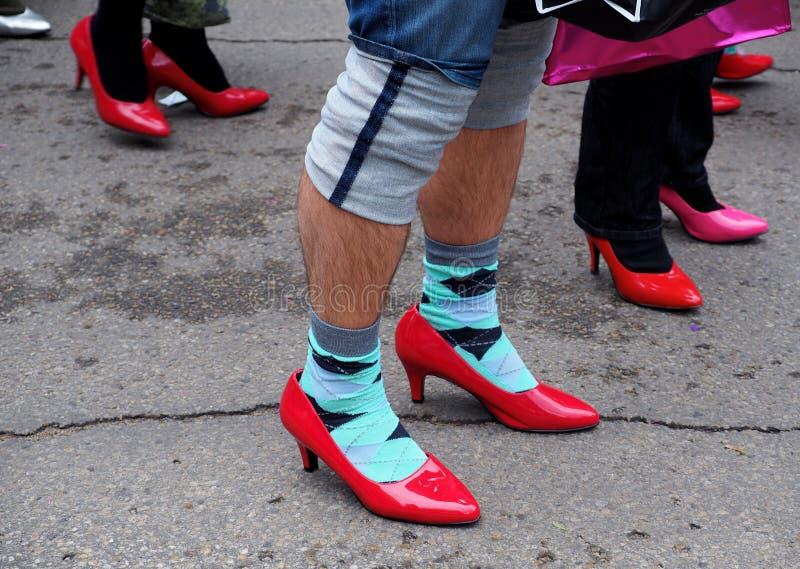 高跟鞋的人 免版税库存图片