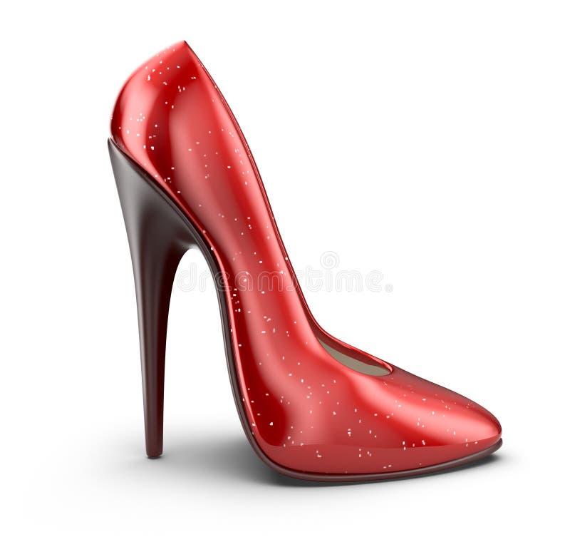 高跟鞋鞋子。3D象  向量例证