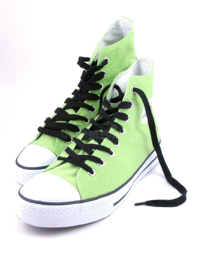 高运动鞋顶层 库存照片