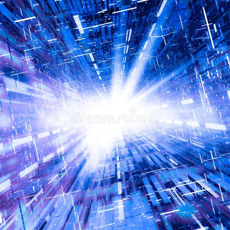 高速互联网通信 向量例证