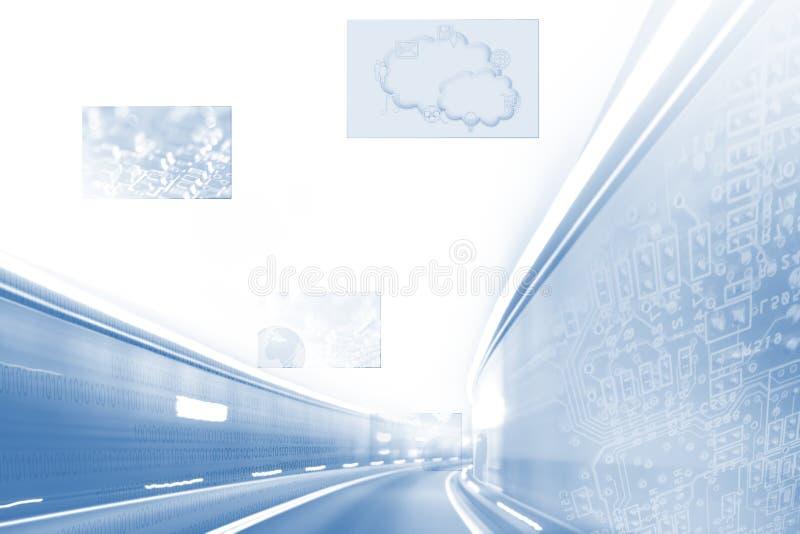 高速互联网BG 库存例证