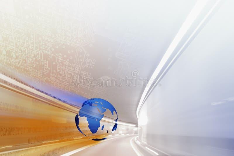 高速互联网BG 向量例证