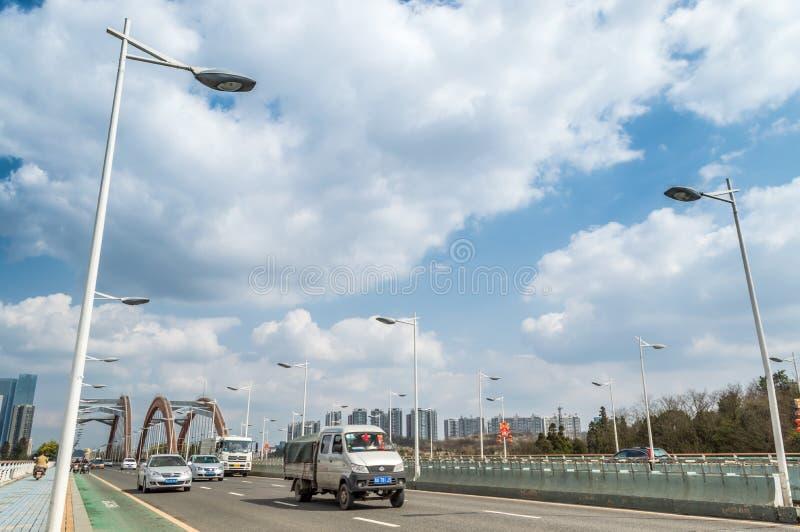 高速交通在贵阳市 库存图片