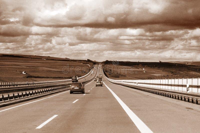 高速公路业务量 库存照片