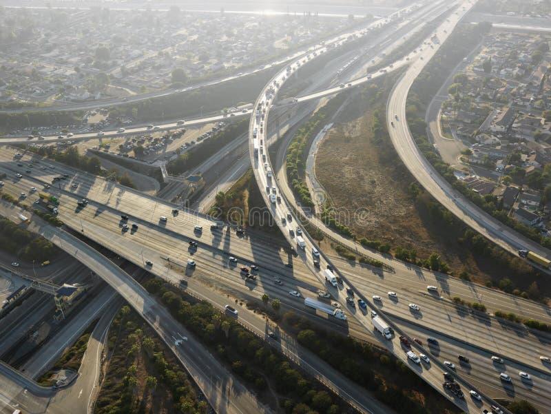 高速公路互换 图库摄影