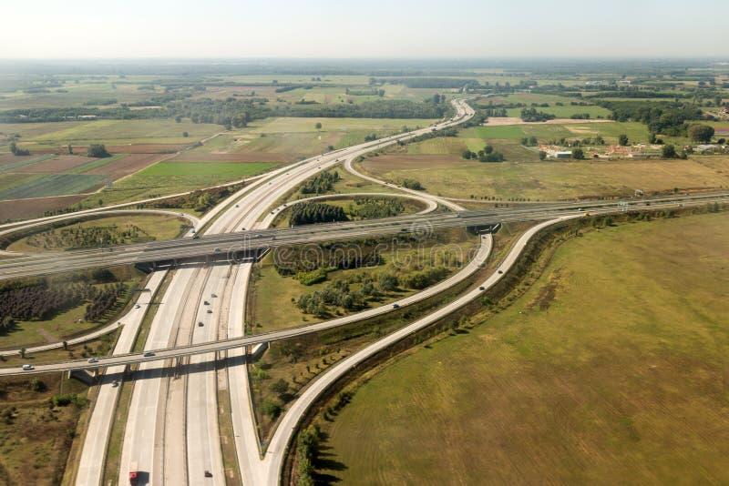 高速公路互换 库存照片