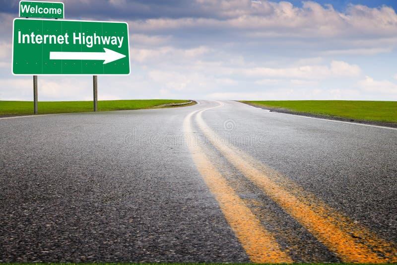高速公路互联网 图库摄影