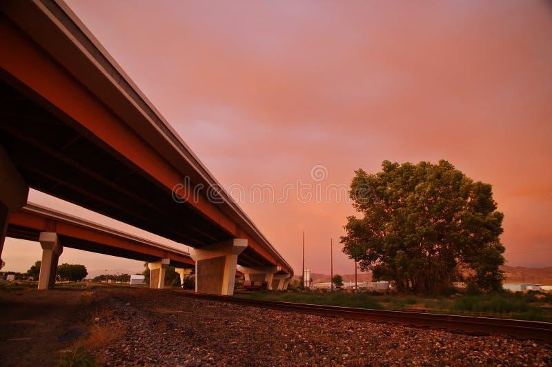 高速公路天桥 库存图片