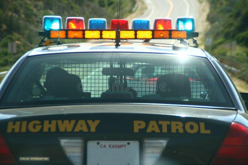 高速公路巡逻车 库存图片