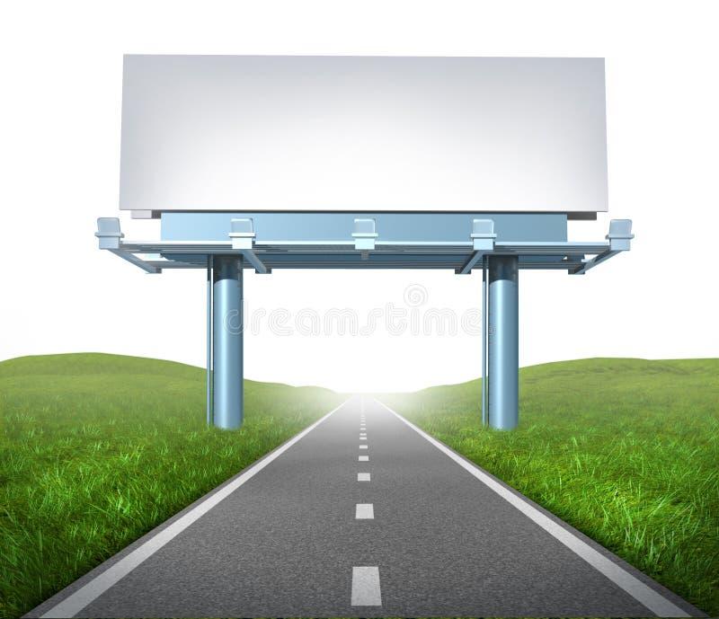 高速公路广告牌 向量例证