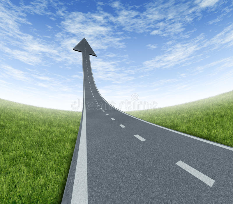 高速公路成功 向量例证