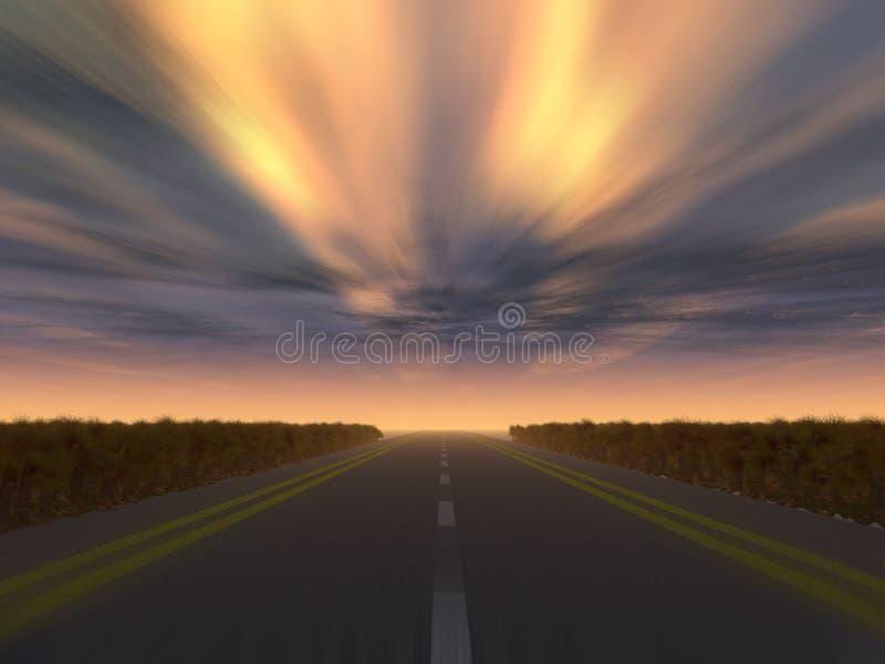 高速公路晚上速度 向量例证