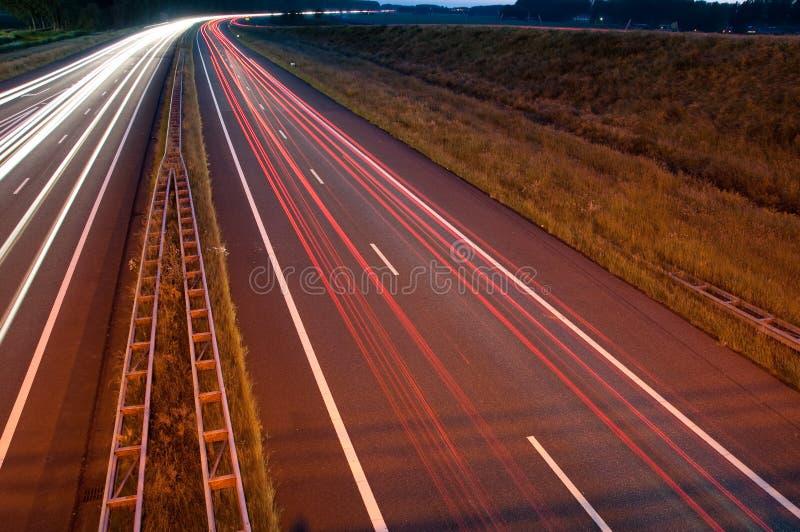 高速公路晚上 图库摄影