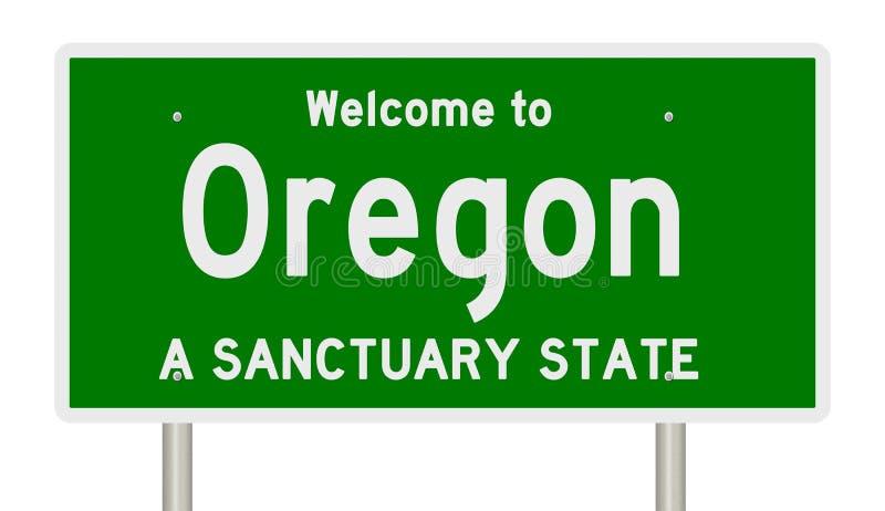 高速公路标志翻译圣所状态的俄勒冈 皇族释放例证