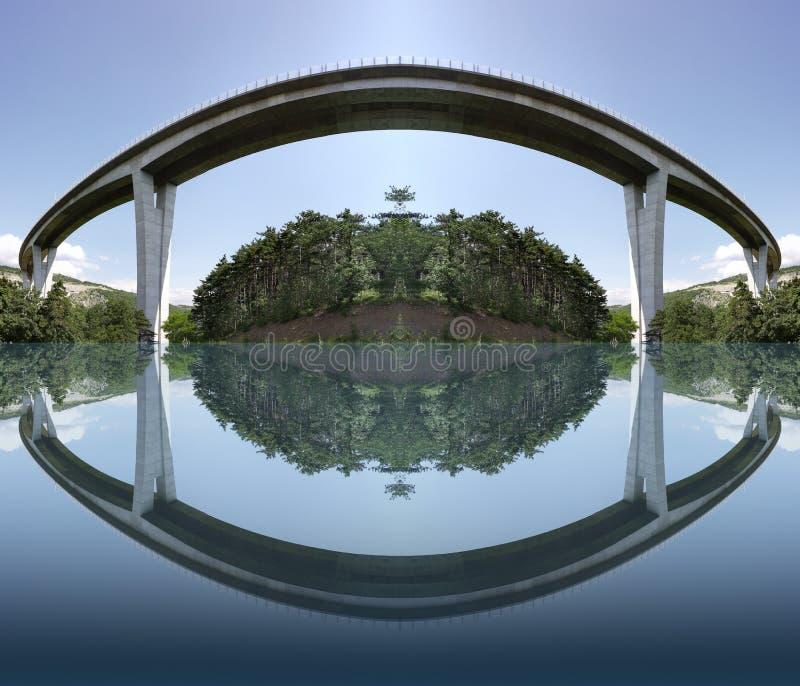 高速公路桥梁 库存例证