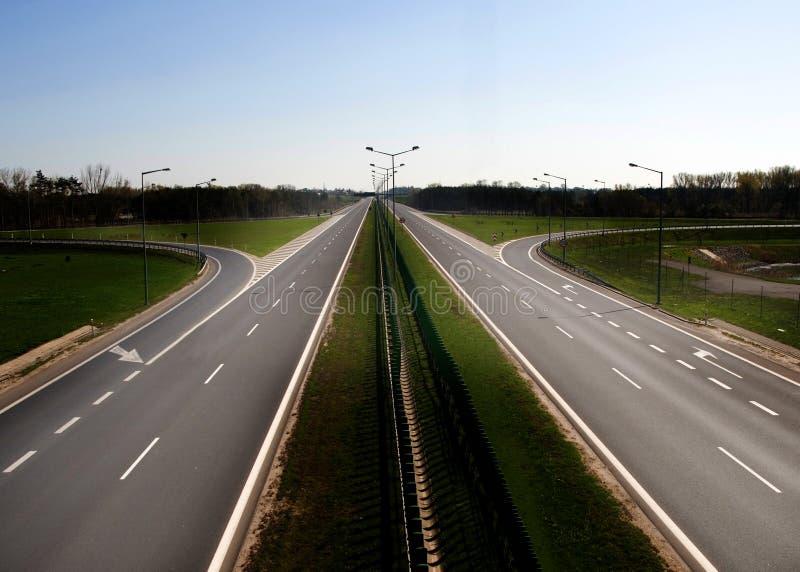高速公路波兰 免版税库存图片