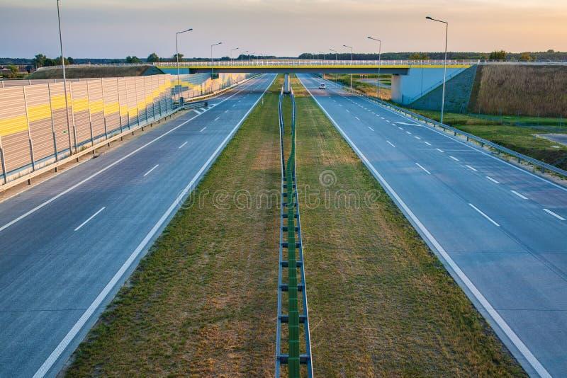 高速公路波兰 图库摄影