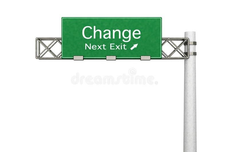 高速公路符号-更改 皇族释放例证