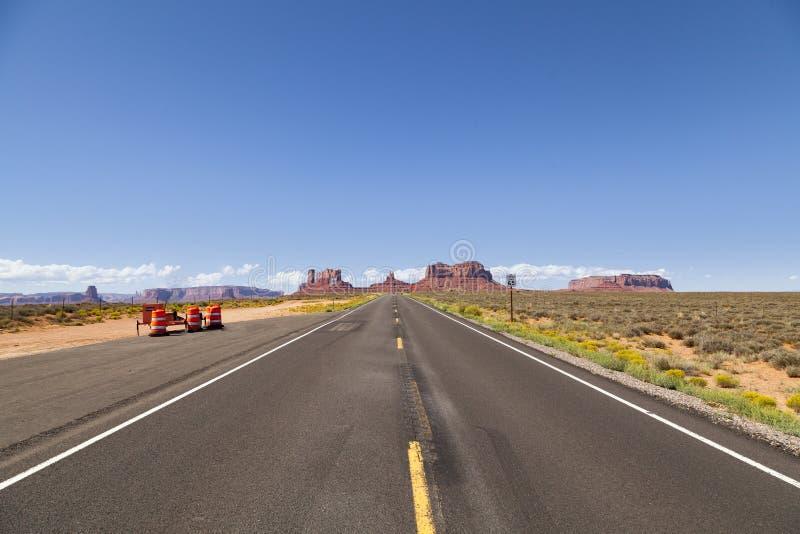 高速公路美国163,犹他 免版税库存照片