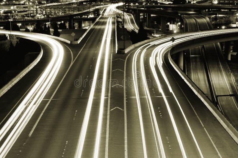 高速公路西雅图 库存照片
