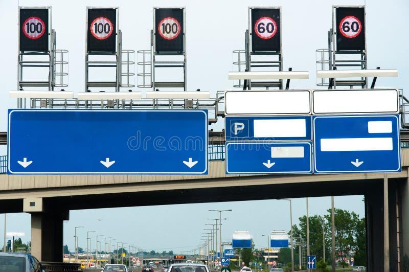 高速公路许多符号 库存图片
