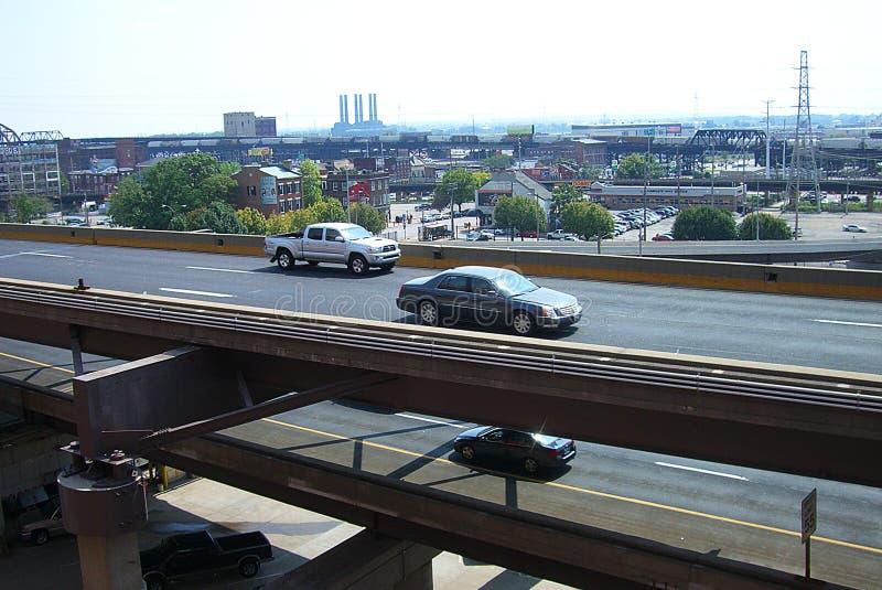 高速公路路易斯st 库存图片