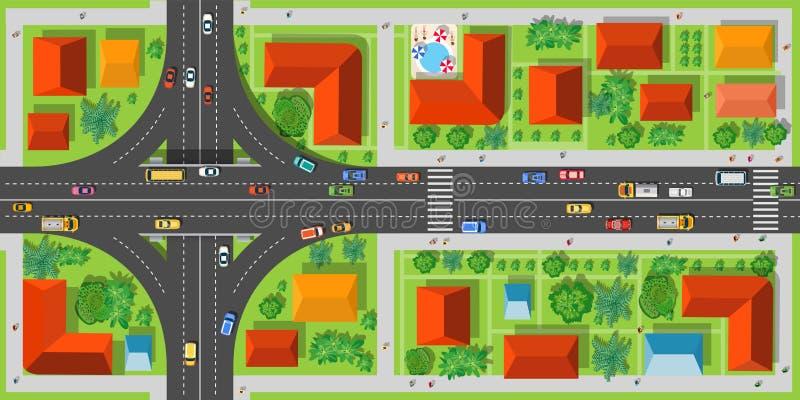 高速公路连接点路 库存例证