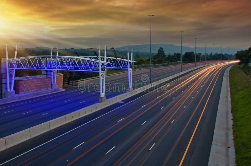 高速公路通行费 库存图片