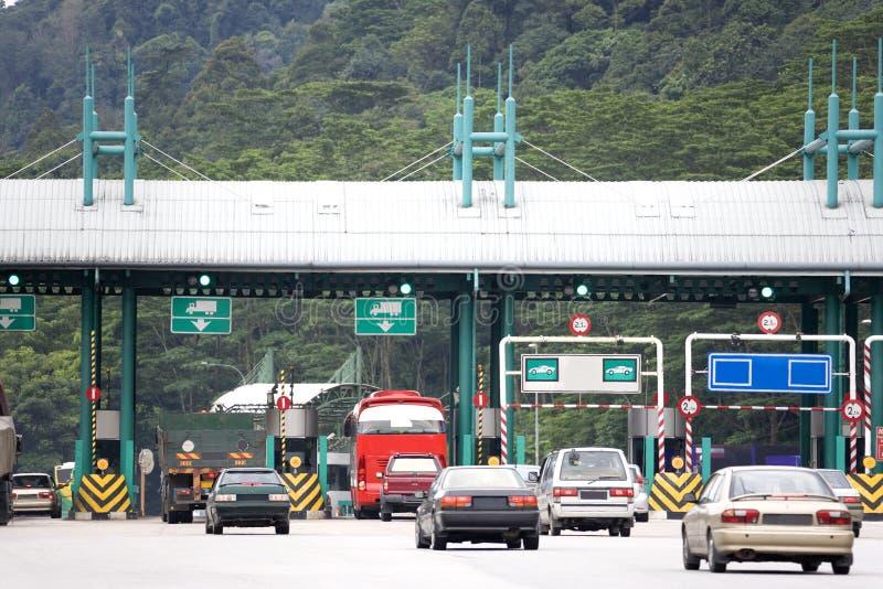 高速公路通行费 库存照片