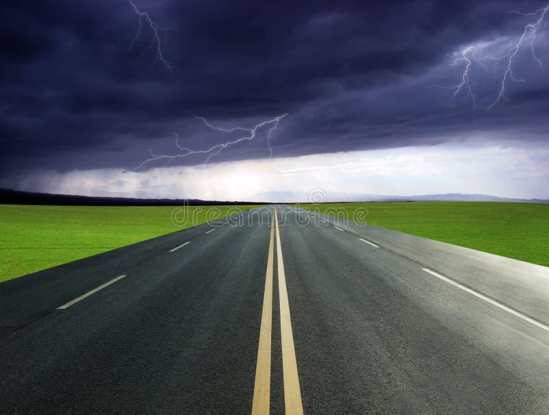 高速公路闪电 库存图片