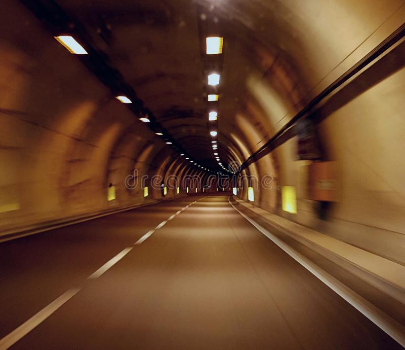 高速公路隧道(意大利) 免版税库存照片