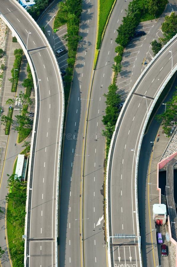 高速公路顶视图 库存图片
