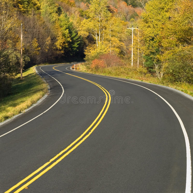 高速公路风景绕 免版税库存照片