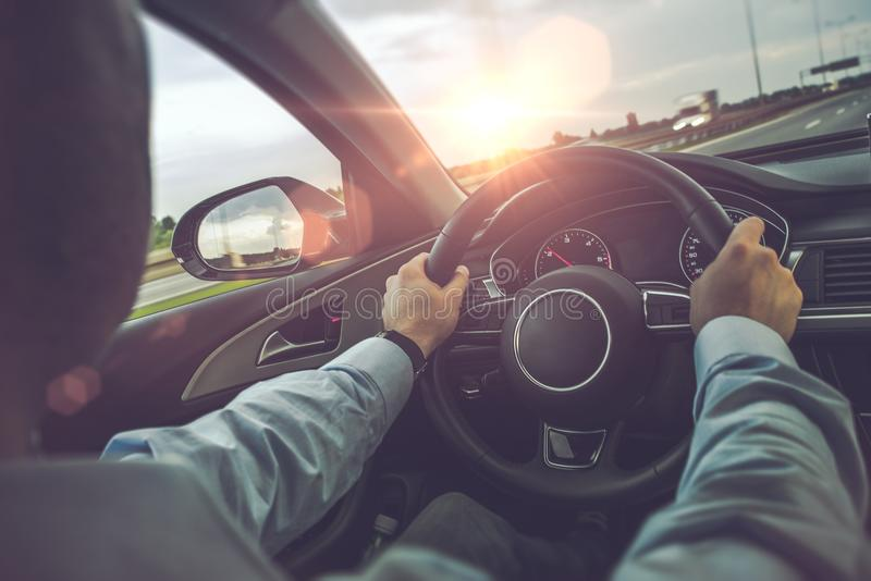 高速公路驾车 图库摄影