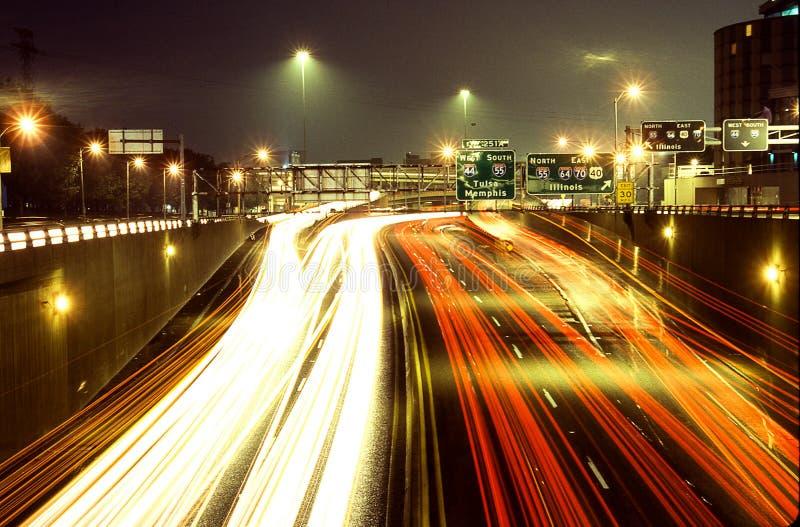 高速公路44在圣路易斯, MO 免版税库存图片