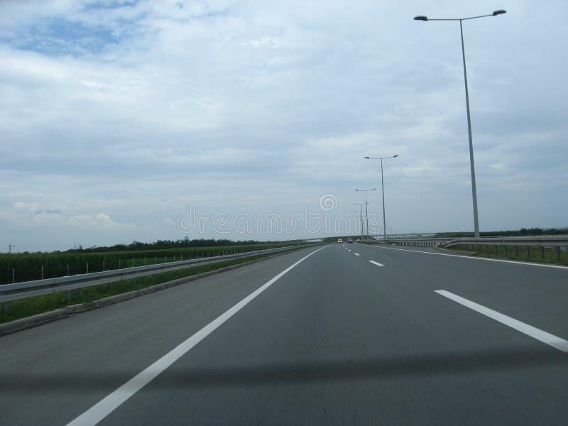 高速公路E- 75,贝尔格莱德Nis,夏令时,假期,塞尔维亚, 库存图片
