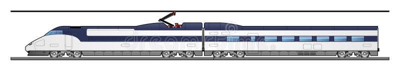 高速火车 皇族释放例证