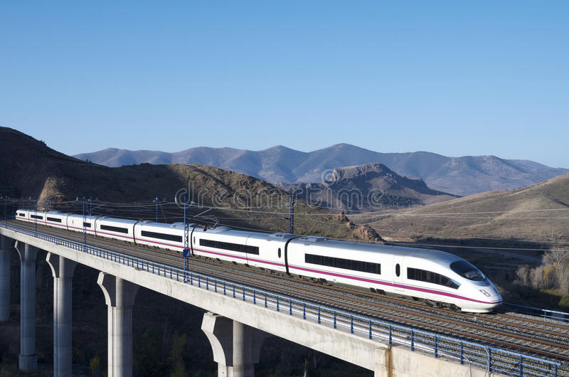 高速火车 库存图片