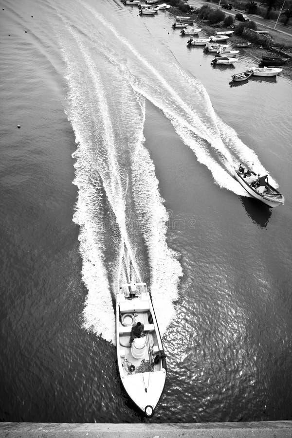 高速的小船 免版税库存照片