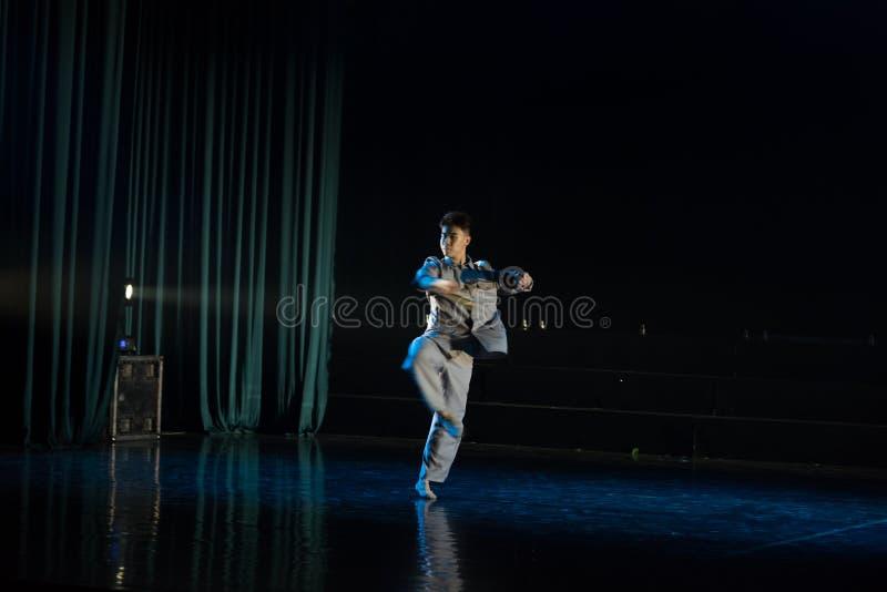 高速自转--舞蹈戏曲驴得到水 免版税库存照片