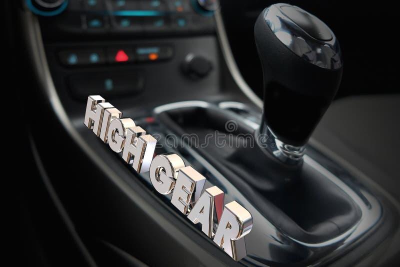 高速转移驾驶最快速度的汽车汽车 向量例证