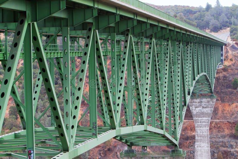 高长期底部的桥梁 免版税图库摄影
