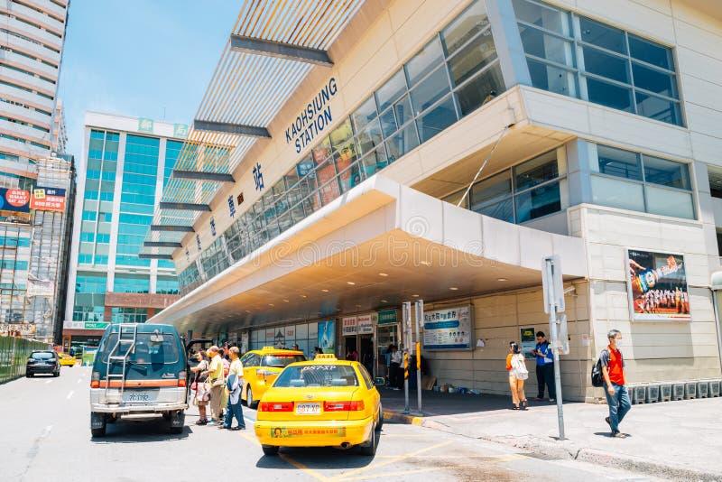 高雄火车站在台湾 免版税库存图片